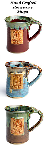 Stoneware mugs with Herbal Sage logo