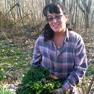Image of Maureen at the farm.  Link to Herbal Sage Blog