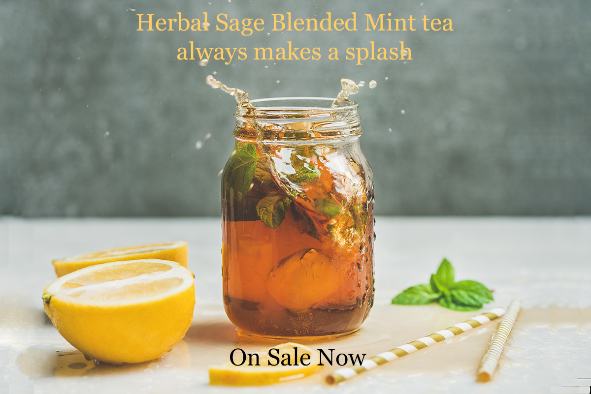 Blended Mint tea sachets now on sale